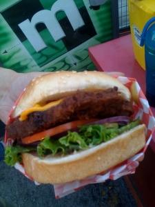 Fried cheeseburger
